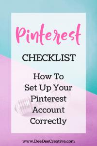 Pinterest Checklist